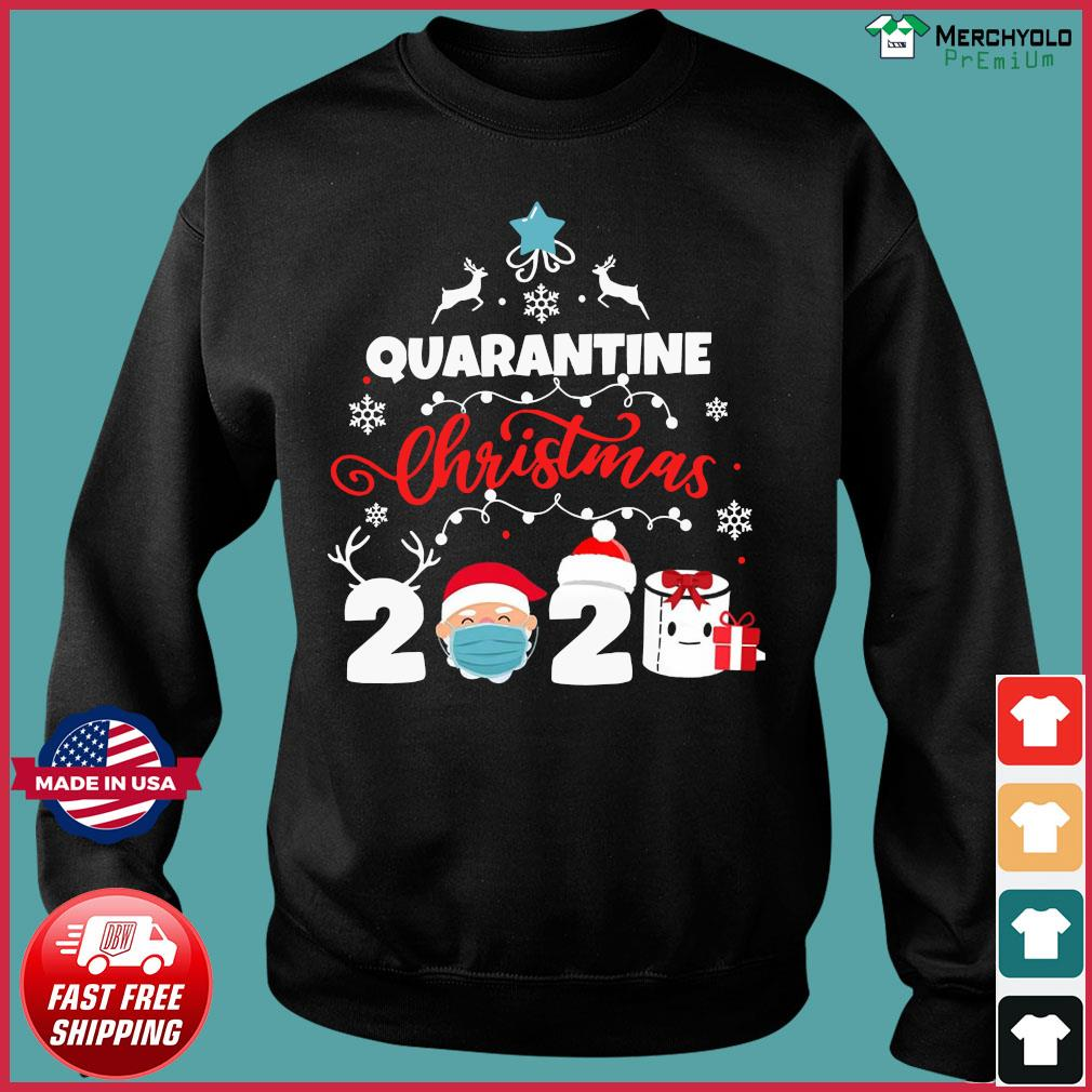 Xmas Quarantine Christmas 2020 Social distancing Christmas Shirt Sweater