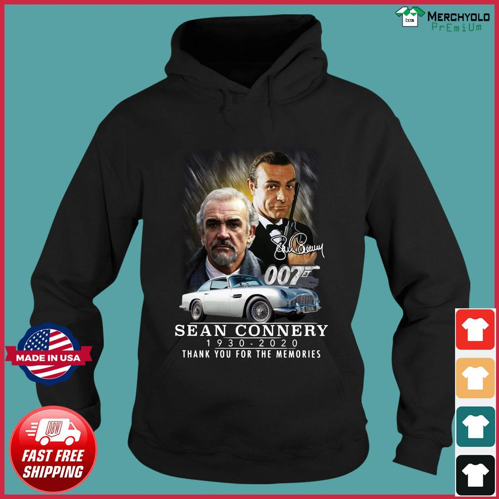007 Sean Connery 1930 2020 Thank You For The Memories Signature T-Shirt Hoodie