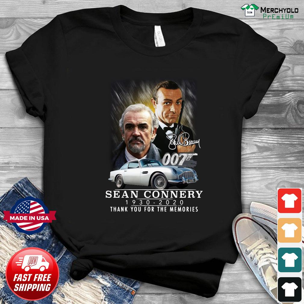 007 Sean Connery 1930 2020 Thank You For The Memories Signature T-Shirt