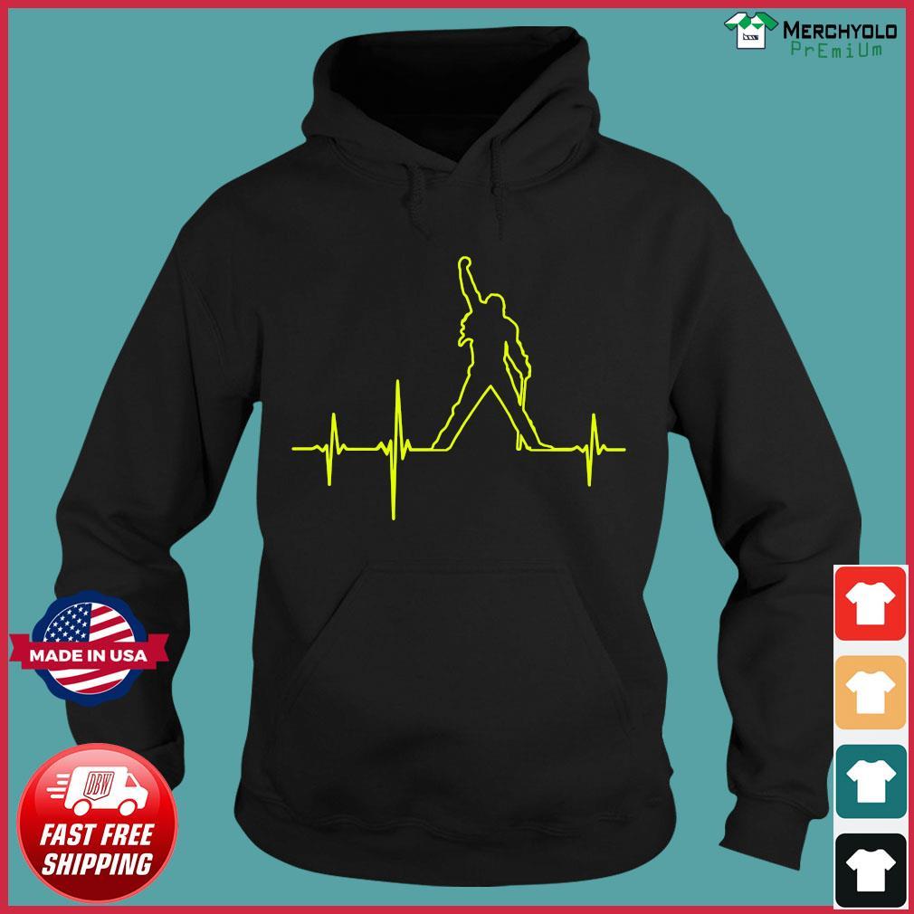 Freddie Mercury Heartbeat Shirt Hoodie