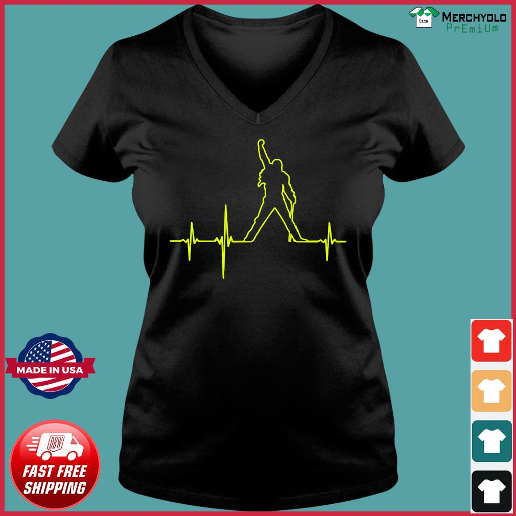Freddie Mercury Heartbeat Shirt Ladies V-neck Tee