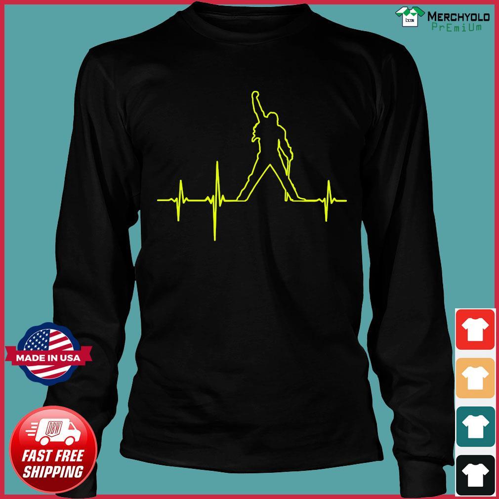 Freddie Mercury Heartbeat Shirt Long Sleeve