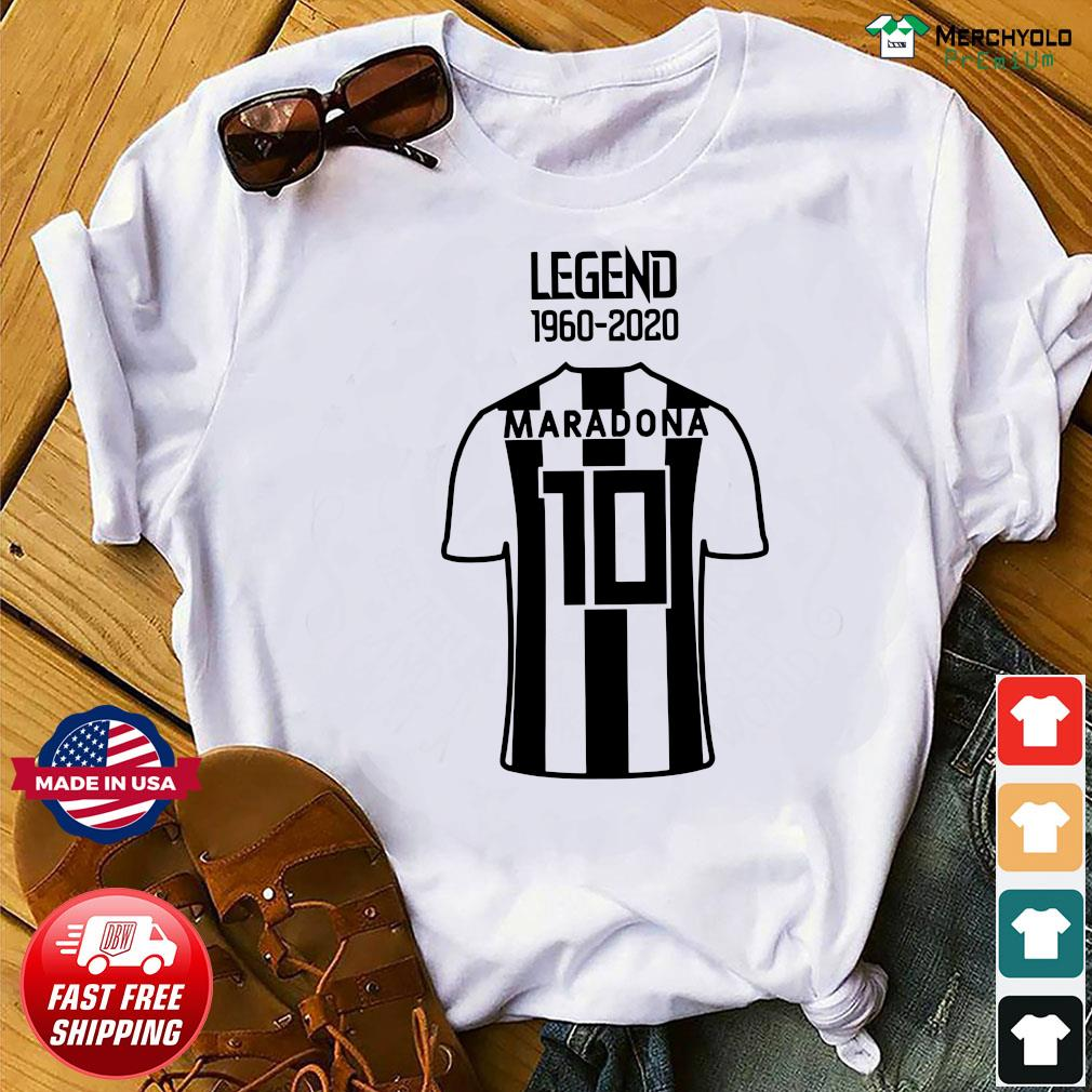 Legend 1960 2020 Diego Maradona 10 Shirt