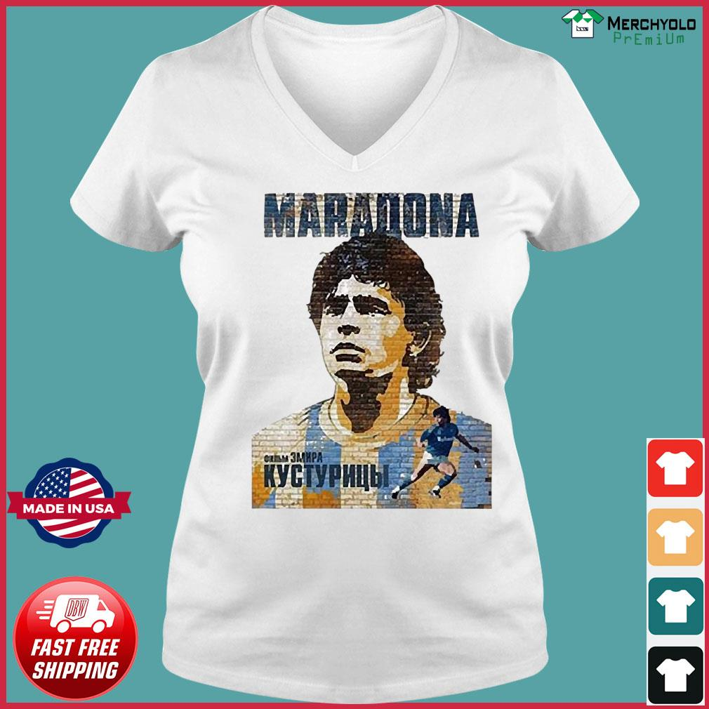 RIP Maradona Diego We will miss you Diego Maradona Footballer football Shirt Ladies V-neck Tee